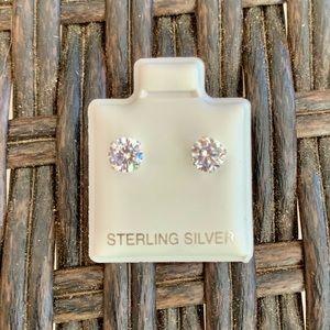 Sterling Silver 5mm Cubic Zirconia Studs Earrings